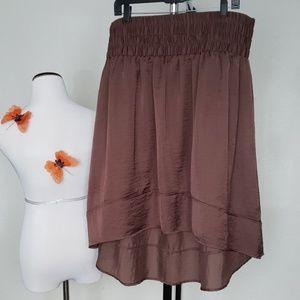 Lane Bryant Brown High-Low Skirt Plus Size 18/20